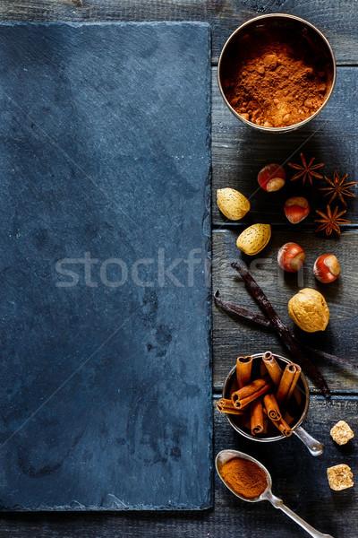 специи орехи ваниль корицей Сток-фото © YuliyaGontar