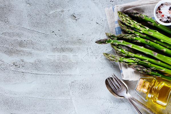 Zdjęcia stock: Zielone · świeże · szparagów · górę · widoku · organiczny