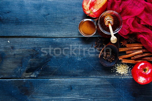 Winter warming spices Stock photo © YuliyaGontar