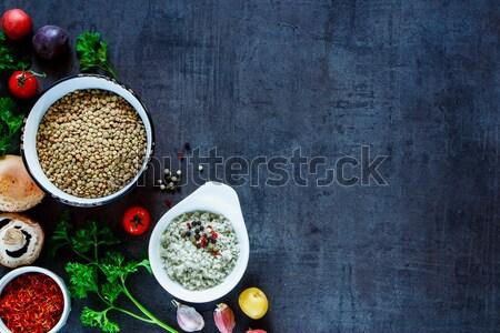 Kolorowy przyprawy warzyw zielone różny Zdjęcia stock © YuliyaGontar