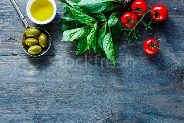 Italian food background Stock photo © YuliyaGontar