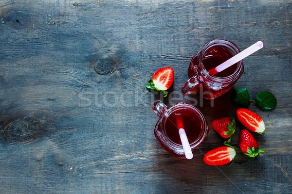 Summer drink with strawberry Stock photo © YuliyaGontar