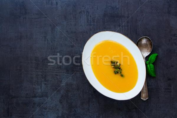 Pumpkin cream soup Stock photo © YuliyaGontar