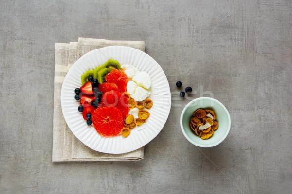 Morning breakfast inspiration Stock photo © YuliyaGontar