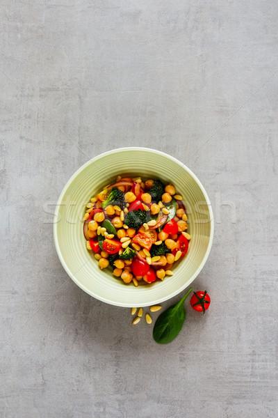 Vegan salad bowl Stock photo © YuliyaGontar