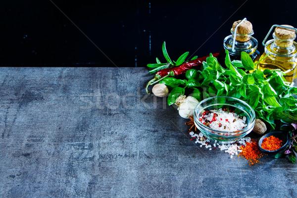 Herbs and spices Stock photo © YuliyaGontar