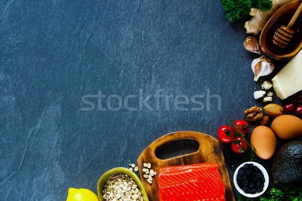 自然食品 カラフル 新鮮な 生 材料 鮭 ストックフォト © YuliyaGontar