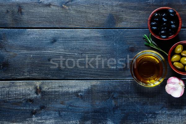 Olives and Olive Oil Stock photo © YuliyaGontar