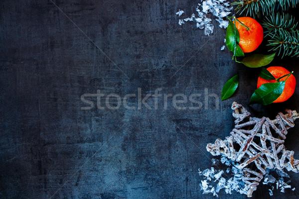 クリスマス 先頭 表示 葉 暗い ヴィンテージ ストックフォト © YuliyaGontar