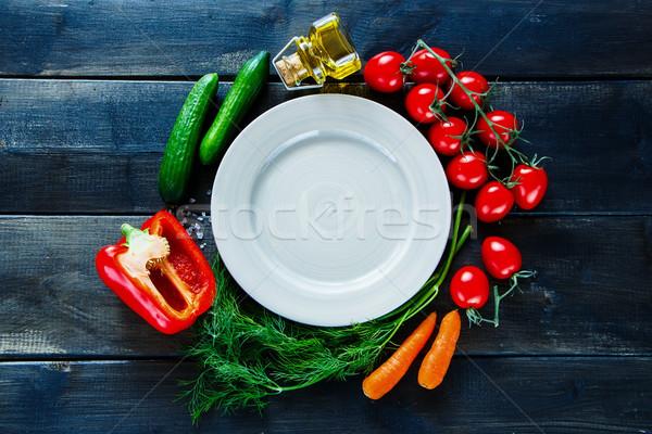 Gemüse Würze Zutaten herum leer Stock foto © YuliyaGontar