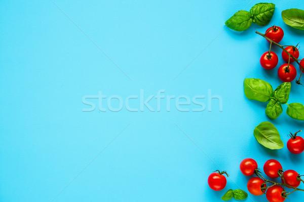 蕃茄 羅勒 幀 清潔 吃 柔和 商業照片 © YuliyaGontar