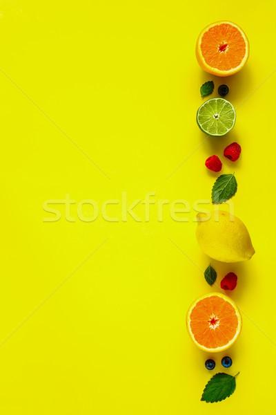 Orgánico frutas limón naranja cal Foto stock © YuliyaGontar