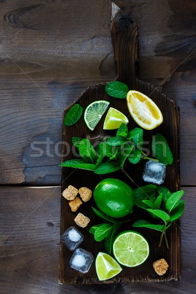 Ingrediënten top mojito Stockfoto © YuliyaGontar
