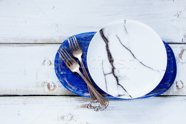 White empty plate Stock photo © YuliyaGontar