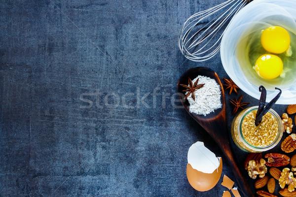 Bakery recipe background Stock photo © YuliyaGontar