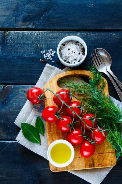 ストックフォト: クリーン · 食品 · 古い · 木製のテーブル · 季節の · 野菜