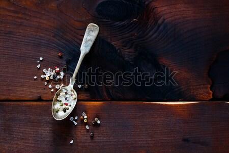 Spice in spoon Stock photo © YuliyaGontar