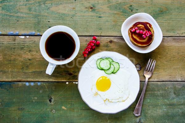 Healthy breakfast concept Stock photo © YuliyaGontar