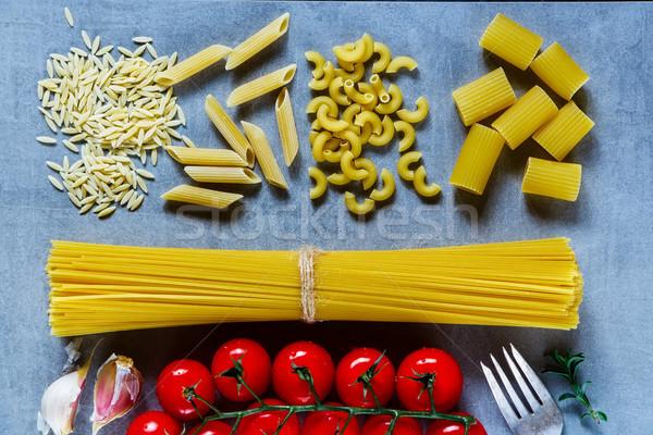 ストックフォト: パスタ · イタリア語 · 新鮮な · トマト