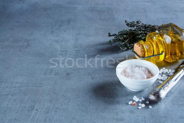 Herbs and spices selection Stock photo © YuliyaGontar