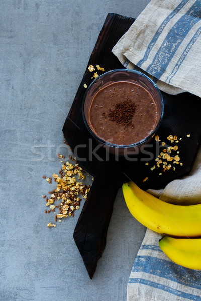 Chocolate banana smoothie Stock photo © YuliyaGontar