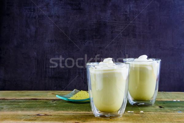Matcha tea latte Stock photo © YuliyaGontar