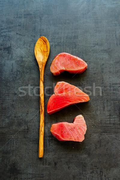 Tuna fish steaks Stock photo © YuliyaGontar