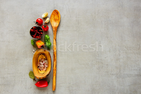 新鮮な オーガニック 材料 光 先頭 ストックフォト © YuliyaGontar