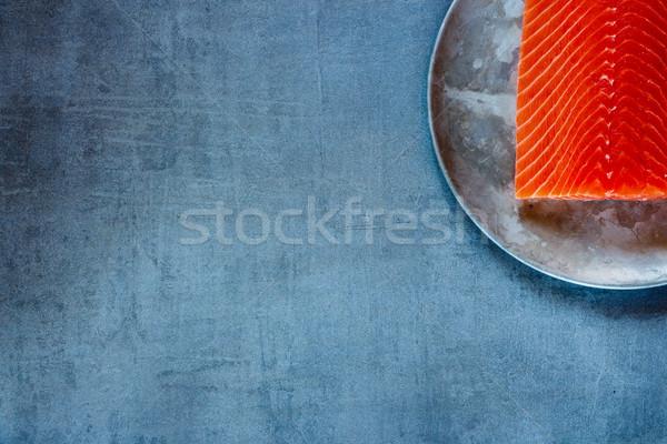 Greggio salmone filetto vecchio metal Foto d'archivio © YuliyaGontar