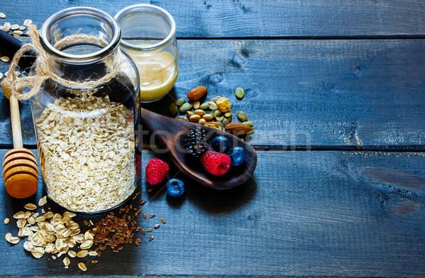 Diet breakfast ingredients Stock photo © YuliyaGontar