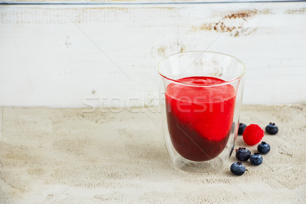 Layered fruit smoothie Stock photo © YuliyaGontar