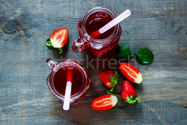 Summer drink with strawberry Stock photo © YuliyaGontar