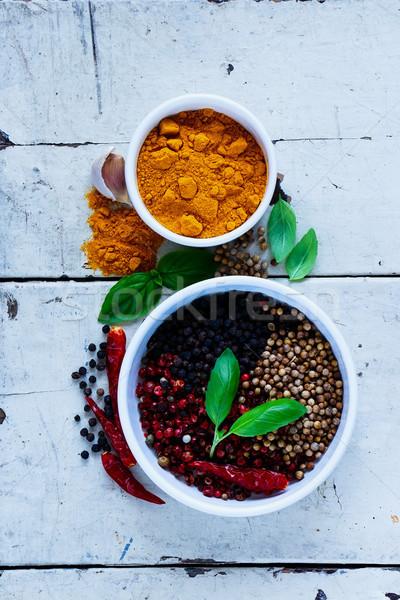 Kleurrijk gedroogd specerijen peper Stockfoto © YuliyaGontar