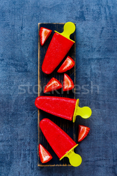 клубника шербет Top мнение мороженым свежие Сток-фото © YuliyaGontar