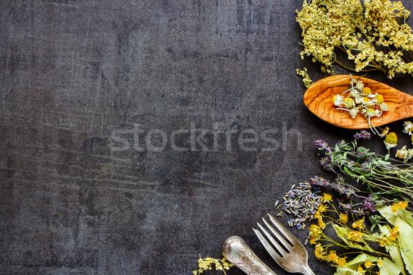 Selvatico guarigione erbe clean mangiare Foto d'archivio © YuliyaGontar
