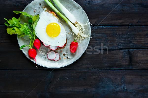 Rural breakfast sandwich Stock photo © YuliyaGontar