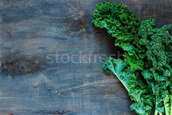 Zöld fürtös felső kilátás friss rusztikus Stock fotó © YuliyaGontar