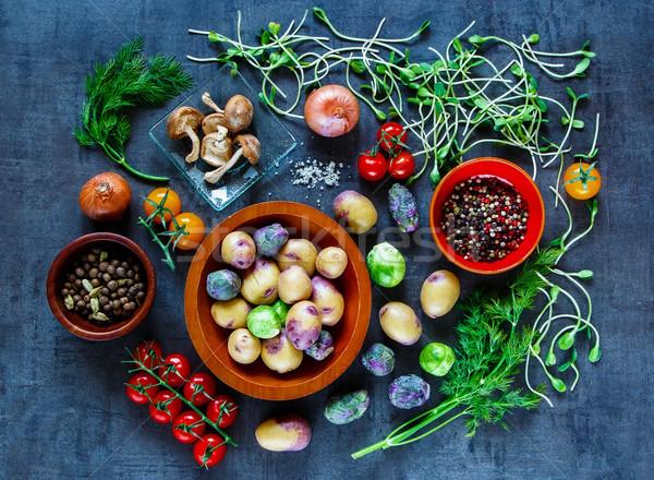 Tasty vegetables background Stock photo © YuliyaGontar