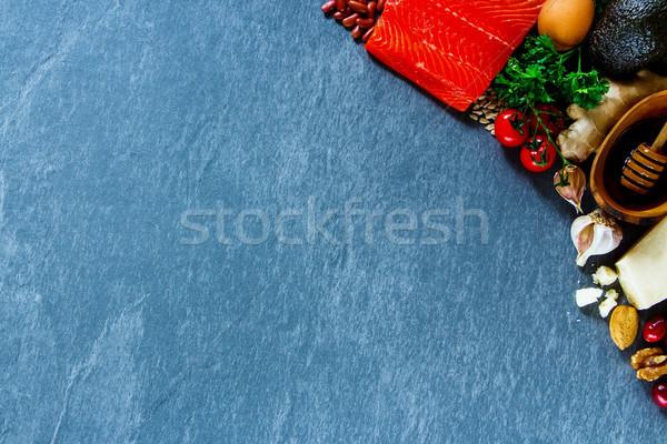 自然食品 食品 オーガニック 生 材料 鮭 ストックフォト © YuliyaGontar