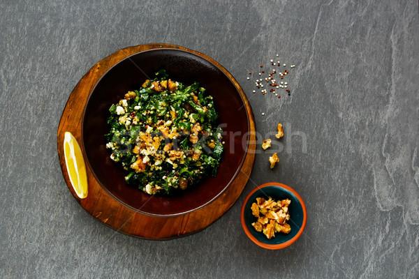 サラダ 健康 サラダボウル 生 フェタチーズ ストックフォト © YuliyaGontar