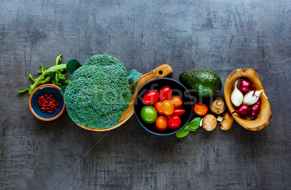 Flat-lay of ingredients Stock photo © YuliyaGontar