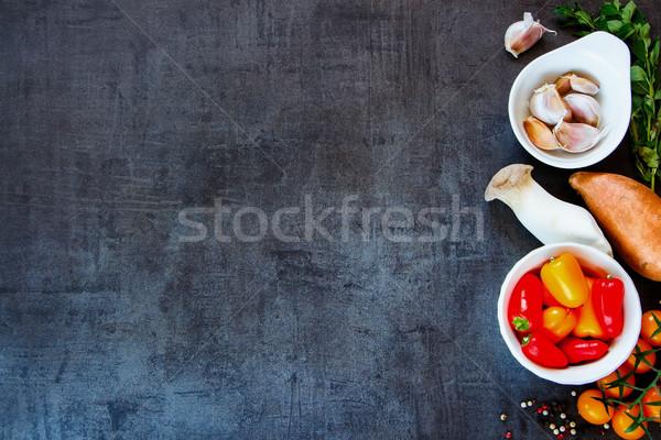 Сток-фото: свежие · красочный · Ингредиенты · фермы · овощей · здорового