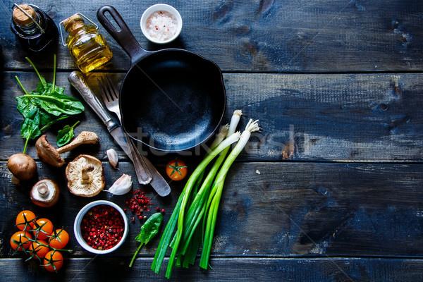 свежие органический овощей Top мнение красочный Сток-фото © YuliyaGontar