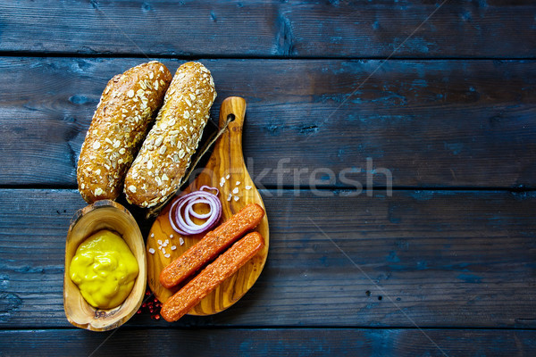 Ingredients for hot dogs Stock photo © YuliyaGontar