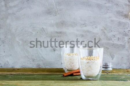 Healthy overnight oats Stock photo © YuliyaGontar