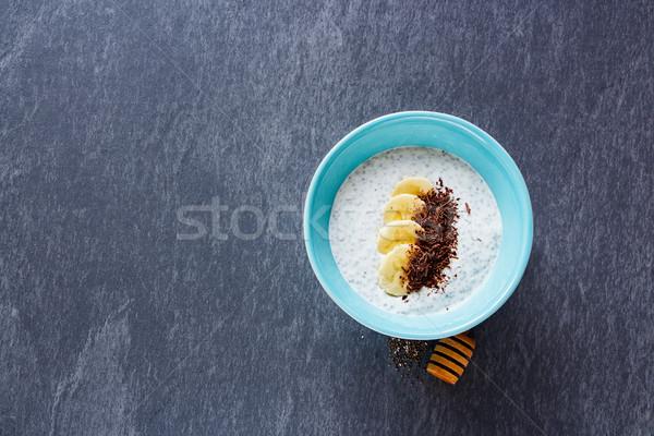 Nasion pudding zdrowych śniadanie Zdjęcia stock © YuliyaGontar