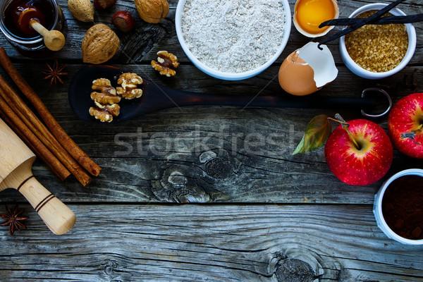 Ingredients for making cake Stock photo © YuliyaGontar