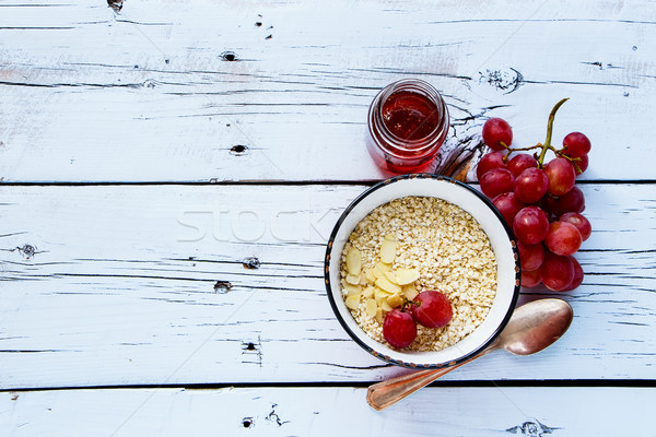 Quinoa flakes for breakfast Stock photo © YuliyaGontar