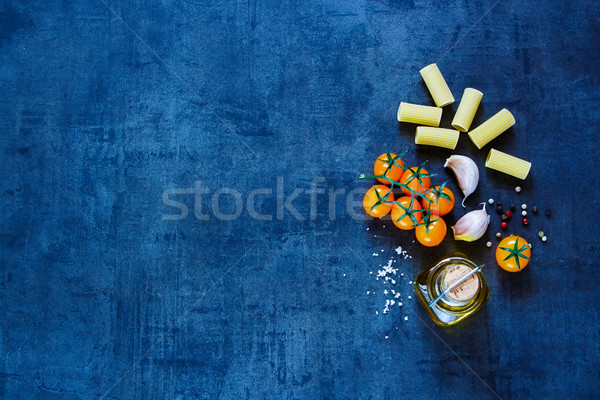 Dry pasta with olive oil Stock photo © YuliyaGontar