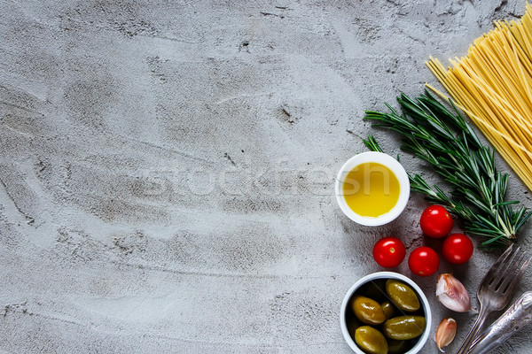 Pasta food background Stock photo © YuliyaGontar